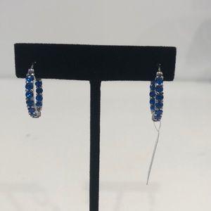 🆕 Capri Blue Swarovski Crystal Hoop Earrings
